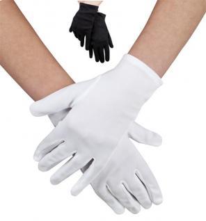 Handschuhe weiß, Damen o. Kinder, Grusel, Halloween, Karneval