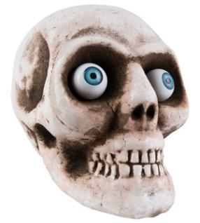 Totenkopf Schädel groß mit 2 großen Augen, DEKO Grusel, Halloween