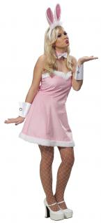 4tlg.Hasen Kostüm Bunny sexy Kleid Damen 38
