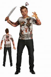 FUN Zombie Shirt Herren Gr. L 50-52 +Baumwolle Halloween Horror