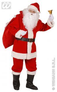DELUXE, 6 tlg. Weihnachtsmann Kostüm, Nikolaus SAMT& Webpelz L-XL + Gratis
