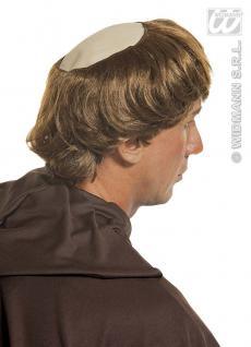 MÖNCH PERÜCKE mit GLATZE Priester Pfarrer Pater Kloster Kostüm 8388