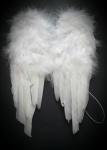 DEKO Engel Flügel, Federn weiss, klein 22x30 cm Hochzeit, Weihnachten