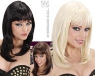 Perücke wie ECHTHAAR, Neuheit: glatt Schulterlang -- blond
