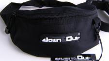 Gürteltasche Bauchtasche Hüfttasche, Down& out *SCHWARZ
