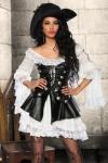4 tlg Piratenkostüm Damen Komplett hochwertig Damen Gr. XS-34-176
