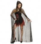 Netzumhang + Kapuze, lang, Vampir, Gothic, Mottoparty Halloween