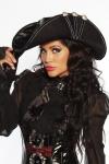 Piratenhut DELUXE Burlesque Gothic passend zum Kostüm Kleid Damen