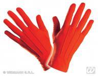 Finger Handschuhe kurz ROT, Erwachsene Teufel, Clown, Zirkus