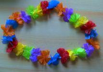 8 x Hawaiiketten Blumenkette bunt ca. 1 m Sommerparty Karneval