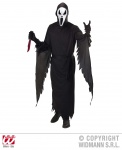 3 tlg. Scream Kostüm, schreiender Geist