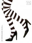 Strumpfhose, gestreift, Ringelstrumpfhose, schwarz-weiß