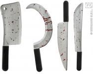 blutiges Beil, Machete, Messer, Sichel, Halloween