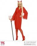 Teufel Kostüm, Teufelskostüm Gürtel + Hörner ROT