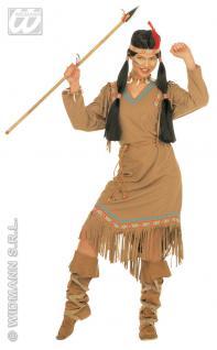 Indianerin Kostüm Squaw, Indianer 3-tlg.Karneval,