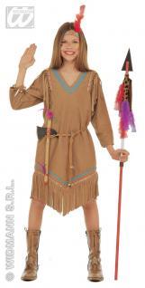 Indianerin Kostüm Squaw, Mädchen Indianer 3-tlg.Karneval,