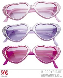 Glamour Brille Herzförmig Kinder