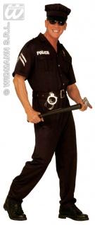 3-tlg. POLIZIST, Polizei, Uniform Kostüm, m.Hut