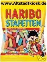Haribo Stafetten 10 x 200g. Tüten Lakritz
