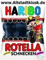 Haribo Lakritz Rotella Schnecken 5 x 200g. Tüten