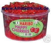 Haribo Fruchtgummi HAPPY CHERRIES 150Stück Dose