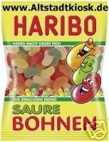 Haribo Saure Bohnen 5 x 200g. Tüten OVP.