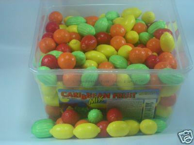 Caribbean Fruit Mix Bubble Gum 300Stück (1St./0,04?