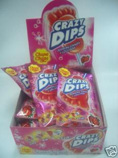 Chupa Chups Crazy Dips Erdbeer-Candy 24Stück