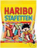 Haribo Stafetten 5 x 200g. Tüten Lakritz