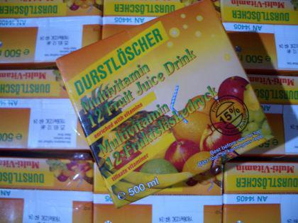 Durstlöscher Multi-Vitamin Getränk 12 x 500ml.