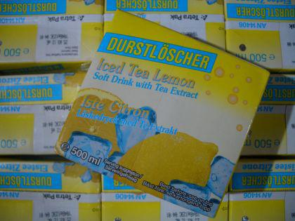 Durstlöscher Eistee-Zitrone 12 x 500ml. Tetra-Pack