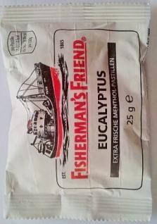 Fisherman's Friend EUCALYPTUS 24x25g extra frische Menthol-Pastillen OVP.