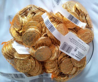 Goldtaler von Trumpf / Karneval-Wurfmaterial 5 x 150g. Netze