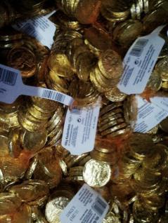 Goldtaler von Trumpf / Karneval-Wurfpaket 4,5Kg.