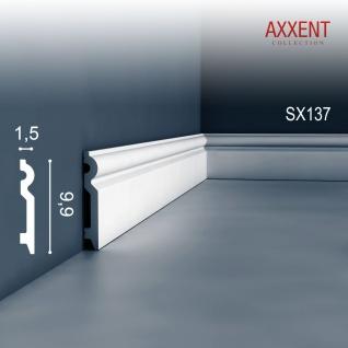 Sockelleiste Fußleiste von Orac Decor SX137 AXXENT Profilleiste Wand Boden Leiste mit Kabelschutz Funktion | 2 Meter