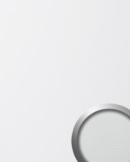 Wandpaneel Leder Design selbstklebend WallFace 13467 LEATHER Struktur Wandplatte Luxus Paneel Tapete weiß   2, 60 qm