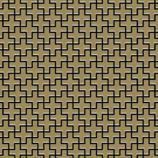 Mosaik Fliese massiv Metall Titan gebürstet in gold 1, 6mm stark ALLOY Swiss Cross-Ti-GB 0, 88 m2