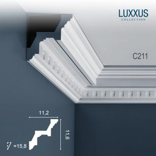 Zierleiste Orac Decor C211 LUXXUS Eckleiste Stuckleiste Profilleiste Stuckdekor Decken Wand Leiste | 2 Meter