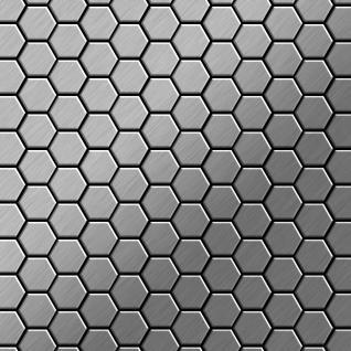 Mosaik Fliese massiv Metall Edelstahl marine gebürstet in grau 1, 6mm stark ALLOY Honey-S-S-MB 0, 92 m2