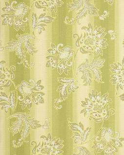 Blumen Tapete EDEM 084-25 Landhaus Blumentapete Floral Designer Barock Vinyltapete grün hellgrün beige weiß gold 5, 33 qm