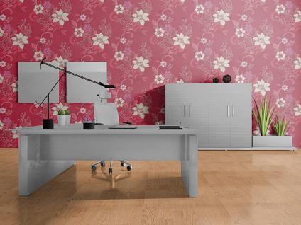 Blumen tapete landhaustapete edem 029 24 design floral for Tapete rot silber