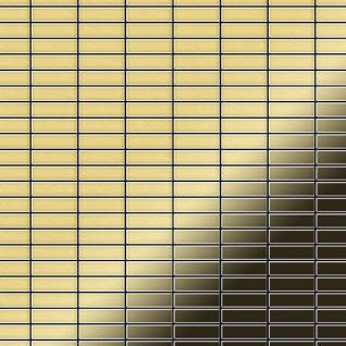 Mosaik Fliese massiv Metall Messing gewalzt in gold 1, 6mm stark ALLOY Cabin-BM 1, 01 m2