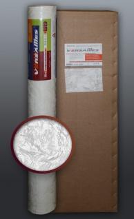 EDEM 317-60 1 Kart 4 Rollen Dekorative Struktur Wand Vlies-Tapete überstreichbar weiß | 106 qm