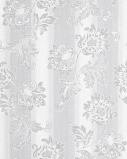 Blumen Tapete EDEM 084-20 Blumentapete Landhaus Floral Designer Barock Vinyltapete hellgrau grau weiß silber 5, 33 qm