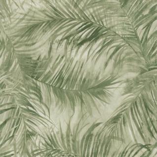 Natur Vliestapete FERUS 205-206 WILD Palmen Dschungel grün creme-weiß 5, 33 qm