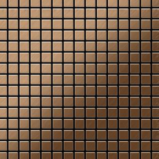 Mosaik Fliese massiv Metall Titan gebürstet in kupfer 1, 6mm stark ALLOY Mosaic-Ti-AB 1, 04 m2