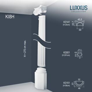 Stuck Halbsäule Komplett Set Orac Decor KI8H LUXXUS dekorative Relief Stucksäule klassisch Form Wand Dekor | 2, 74 Meter