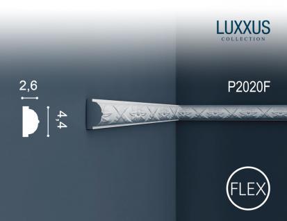 Stuck Wandleiste Orac Decor P2020F LUXXUS flexible Friesleiste Stuck Leiste Wand Dekor Profil Zierleiste Wand | 2 Meter