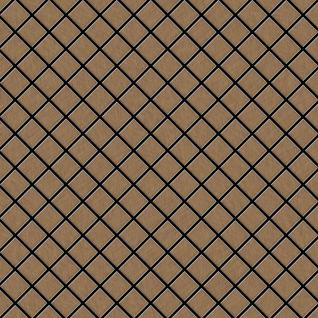 Mosaik Fliese massiv Metall Titan gebürstet in kupfer 1, 6mm stark ALLOY Diamond-Ti-AB 0, 91 m2