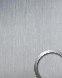 Wandverkleidung Design Platte WallFace 14409 DECO EyeCatch Metall Dekor selbstklebende Tapete silber matt gebürstet | 2, 60 qm